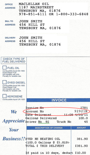 sample invoice